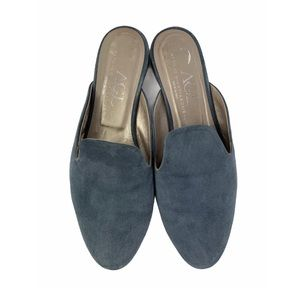 AGL Mule In Denim Suede Size 39